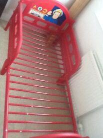 REDUCED Fireman Sam toddler bed