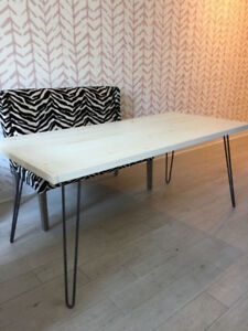 Hairpin Leg Dining table - reclaimed wood - brand new