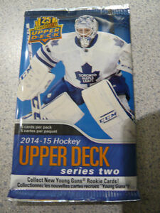 UpperDeck Hockey Card Packs 14-15 Series 2 Packs $2 Per Pack!!