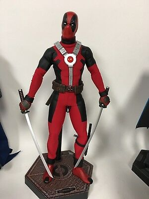 Custom 1/6 Marvel Deadpool Custom Sideshow Hot Toys Wade Wilson Tony Mei HTF Wow