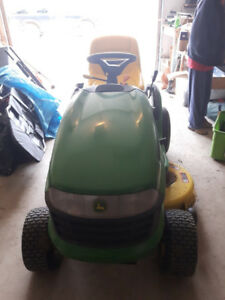 Lawn Tractor and Cart