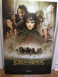 Fellowship of the Ring AUTOGRAPHED promo posterboard