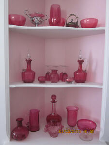 Antique Oil Lamps and Cranberry Glass Collection for Sale Kitchener / Waterloo Kitchener Area image 2