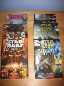 Star Wars Paperback Book Series - good condition !