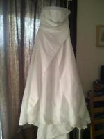 size 16 wedding dress with vail