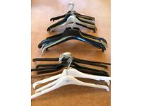 Bundles of 10 Various Shop Coat Hangers for Tops etc. All in Good Condition, Used
