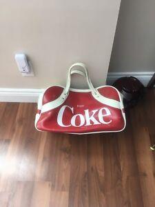 Vintage coke duffle bag