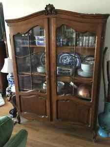 Country French Hutch, Vintage Wood Desk + Antique Moving Sale