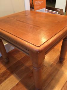 3 Piece Oak Coffee Table Set