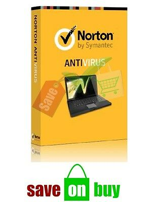 Norton Antivirus 2017   1 User  1 Pc  1 Year  Windows