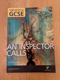 GCSE An Inspector Calls,York notes revision text book very good cond