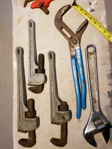 Various pipe wrenches