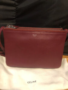 100% authentic Celine Trio Crossbody bag