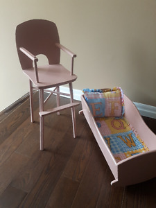 CRADLE &HIGH CHAIR