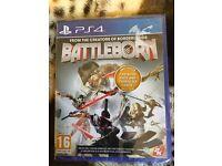 New, sealed BATTLEBORN for PS4