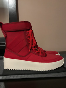 Blood Red Fear of God Military Boots / Shoes Size 10.5