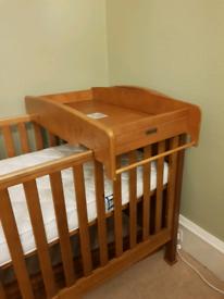 Mamas and papas cotbed changer and pocket sprung mattress