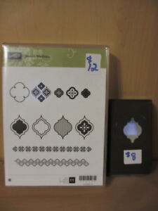 Stampin Up! wood stamps and punch $18