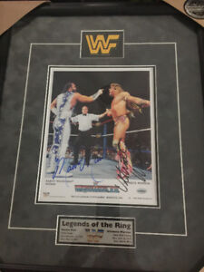 Macho Man Savage & Ultimate Warrior Double Signed 1991 WWF Frame