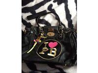 Pauls Boutique Black Leather Bag
