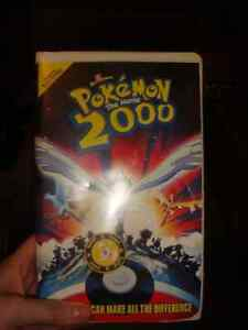 Pokemon Lot Pokemon Rare VHS With Coin, Dish, Keychains Table