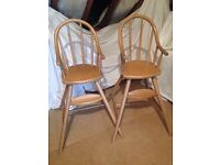 X2 ikea high chairs