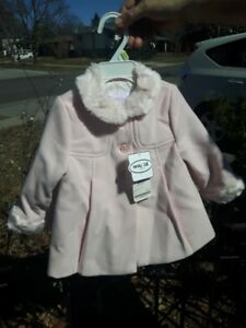CLASSY NWT MAYORAL NEWBORN ROSA COLOUR DRESS COAT FOR SPRING