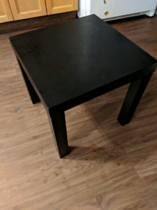 Black Ikea table
