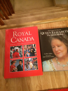 HARD COVER LARGE BOOKS- QUEEN MOTHER/ROYAL CANADA/KATE/WILL
