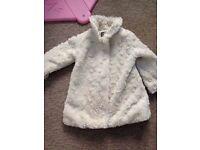 X2 fur baby coats 12-18 & 18 months