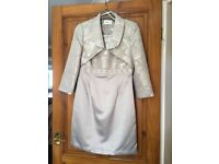 Size ten wedding outfit in champagne with beaded detail