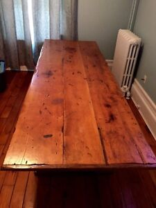 Hand Crafted Pine Trestle Harvest Table
