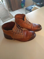 TIMBERLAND BROWN TAN LEATHER BOOTS