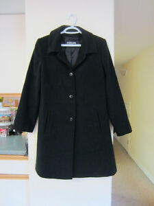 wool blend 3/4 length women's coat