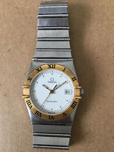 Omega Constellation, SS and 18K. Quartz and authentic