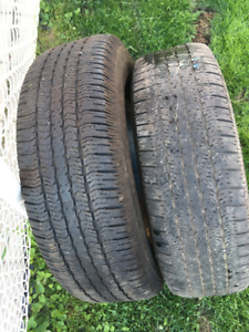 2 PNEUS / 2 ALL SEASON TIRES 265/70/17 GOODYEAR WRANGLER