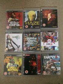 PlayStation 3 games inc GT5