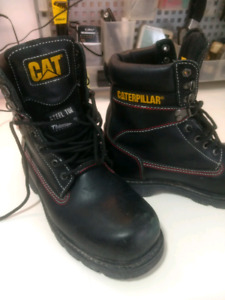 Cat Leather steel toe safety boot #9