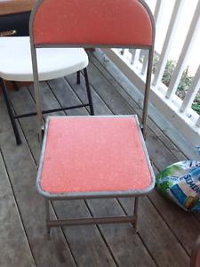 Mental folding chairs