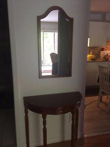 Table console avec miroir à vendre!!!