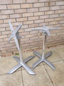 Restaurant/Commercial Dining Table Chrome Bases and foldable