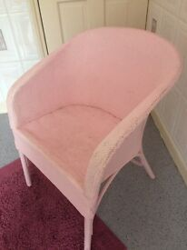 Pale pink woven chair