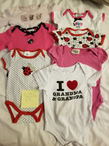 3-6 month Baby girl onesies