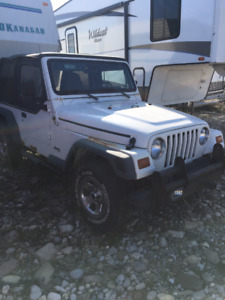 3 TJ Jeeps and parts