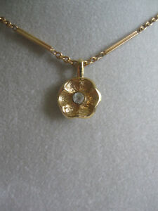 GORGEOUS VINTAGE GOLDTONE 16-in. PENDANT CHAIN NECKLACE