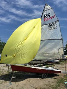 RS Vareo sailboat with spinnaker