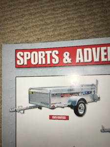 SOLD - 4'x8' galvanized ATV trailer w/ ramp and sides