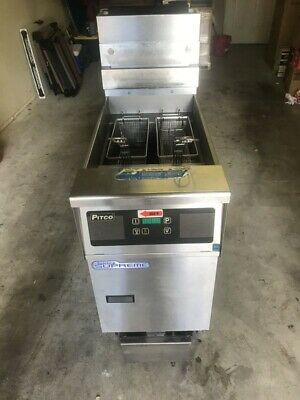 Pitco Solstice Supreme Natural Gas Floor Fryer With Built In Filtration System