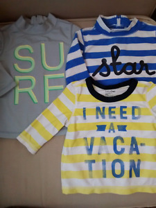 Size 6-12M sun shirts, $10 each or 3 for $25.