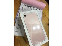 Iphone 7 Rose Gold brandnew 32gb 12 month Apple warranty